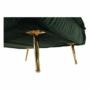 Kép 19/27 - MILIN Fotel ágyfunkcióval,  zöld Velvet anyag/gold króm arany