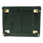 Kép 24/27 - MILIN Fotel ágyfunkcióval,  zöld Velvet anyag/gold króm arany