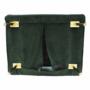 Kép 25/27 - MILIN Fotel ágyfunkcióval,  zöld Velvet anyag/gold króm arany