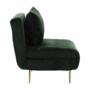 Kép 26/27 - MILIN Fotel ágyfunkcióval,  zöld Velvet anyag/gold króm arany