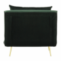 Kép 27/27 - MILIN Fotel ágyfunkcióval,  zöld Velvet anyag/gold króm arany