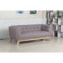 Kép 2/16 - EVARIST Széthúzhatós kanapé,  szürke/tölgy fa