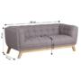 Kép 3/16 - EVARIST Széthúzhatós kanapé,  szürke/tölgy fa