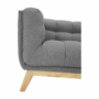 Kép 4/16 - EVARIST Széthúzhatós kanapé,  szürke/tölgy fa