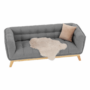 Kép 9/16 - EVARIST Széthúzhatós kanapé,  szürke/tölgy fa
