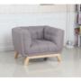 Kép 2/14 - EVARIST Fotel,  szürke/tölgy fa