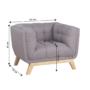 Kép 3/14 - EVARIST Fotel,  szürke/tölgy fa