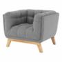 Kép 6/14 - EVARIST Fotel,  szürke/tölgy fa