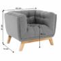 Kép 12/14 - EVARIST Fotel,  szürke/tölgy fa