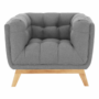Kép 14/14 - EVARIST Fotel,  szürke/tölgy fa