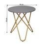 Kép 2/16 - RONDEL Kisasztal,  szürke/arany festés