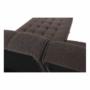Kép 17/23 - NIELIS Ülőgarnitúra,  barna/fekete