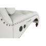 Kép 12/23 - GREGOR Bluetoothos relax fotel,  világosszürke/sötét dió
