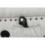 Kép 15/23 - GREGOR Bluetoothos relax fotel,  világosszürke/sötét dió