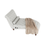 Kép 17/23 - GREGOR Bluetoothos relax fotel,  világosszürke/sötét dió
