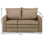 Kép 4/4 - DOTY széthúzhatós kanapé,  világosbarna melír