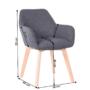 Kép 2/5 - CLORIN Dizájnos fotel,  sötétszürke/bükk [NEW]