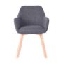 Kép 5/5 - CLORIN Dizájnos fotel,  sötétszürke/bükk [NEW]