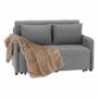 Kép 9/30 - NIKARA kanapé széthúzhatós, világosszürke
