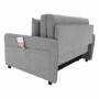 Kép 20/30 - NIKARA kanapé széthúzhatós, világosszürke