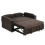 Kép 22/24 - ZAMBA Széthúzhatós kanapé,  barna Velvet anyag