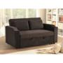Kép 23/24 - ZAMBA Széthúzhatós kanapé,  barna Velvet anyag