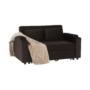 Kép 4/24 - ZAMBA Széthúzhatós kanapé,  barna Velvet anyag