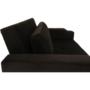 Kép 6/24 - ZAMBA Széthúzhatós kanapé,  barna Velvet anyag