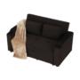 Kép 14/24 - ZAMBA Széthúzhatós kanapé,  barna Velvet anyag