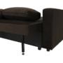Kép 18/24 - ZAMBA Széthúzhatós kanapé,  barna Velvet anyag