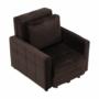 Kép 2/26 - PECHRO Fotel ágyfunkcióval,  csokibarna Velvet anyag