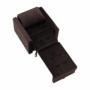 Kép 7/26 - PECHRO Fotel ágyfunkcióval,  csokibarna Velvet anyag