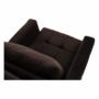 Kép 10/26 - PECHRO Fotel ágyfunkcióval,  csokibarna Velvet anyag