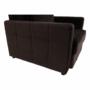 Kép 11/26 - PECHRO Fotel ágyfunkcióval,  csokibarna Velvet anyag