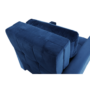 Kép 7/28 - PECHRO Fotel ágyfunkcióval,  királykék Velvet anyag
