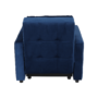 Kép 11/28 - PECHRO Fotel ágyfunkcióval,  királykék Velvet anyag
