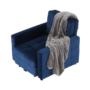 Kép 16/28 - PECHRO Fotel ágyfunkcióval,  királykék Velvet anyag