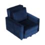 Kép 17/28 - PECHRO Fotel ágyfunkcióval,  királykék Velvet anyag
