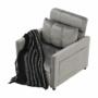 Kép 7/26 - IGRIM fotel ágyfunkcióval,  világosszürke Velvet anyag
