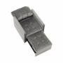 Kép 5/26 - IGRIM Fotel ágyfunkcióval,  világosszürke Velvet anyag