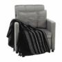 Kép 13/26 - IGRIM fotel ágyfunkcióval,  világosszürke Velvet anyag