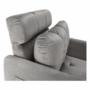 Kép 12/26 - IGRIM Fotel ágyfunkcióval,  világosszürke Velvet anyag