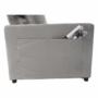 Kép 14/26 - IGRIM Fotel ágyfunkcióval,  világosszürke Velvet anyag