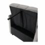 Kép 22/26 - IGRIM fotel ágyfunkcióval,  világosszürke Velvet anyag