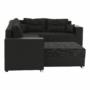 Kép 10/21 - STILA Univerzális ülőgarnitúra,  fekete/fekete melír