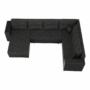 Kép 19/21 - STILA Univerzális ülőgarnitúra,  fekete/fekete melír