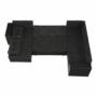 Kép 2/21 - STILA Univerzális ülőgarnitúra,  fekete/fekete melír