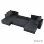 Kép 2/19 - ESSEN Univerzális ülőgarnitúra,  fekete/fekete melír