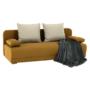 Kép 11/18 - ZACA Széthúzhatós kanapé,  mustár/bézs