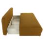 Kép 14/18 - ZACA Széthúzhatós kanapé,  mustár/bézs